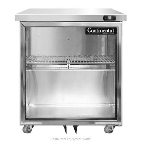 Continental Refrigerator SW27-GD-U Refrigerator, Undercounter, Reach-In
