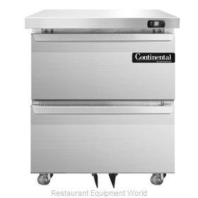 Continental Refrigerator SW27-U-D Refrigerator, Undercounter, Reach-In