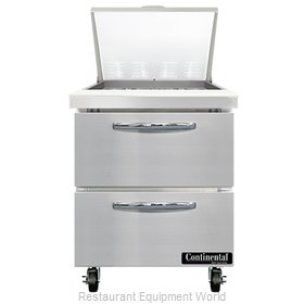 Continental Refrigerator SW27N12M-D Refrigerated Counter, Mega Top Sandwich / Sa