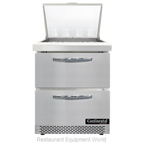 Continental Refrigerator SW27N12M-FB-D Refrigerated Counter, Mega Top Sandwich /