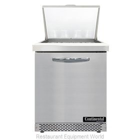 Continental Refrigerator SW27N12M-FB Refrigerated Counter, Mega Top Sandwich / S