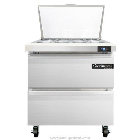 Continental Refrigerator SW32-12M-D Refrigerated Counter, Mega Top Sandwich / Sa