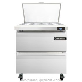 Continental Refrigerator SW32-12M-D Refrigerated Counter, Mega Top Sandwich / Sa