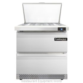Continental Refrigerator SW32-12M-FB-D Refrigerated Counter, Mega Top Sandwich /