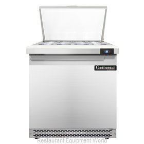 Continental Refrigerator SW32-12M-FB Refrigerated Counter, Mega Top Sandwich / S
