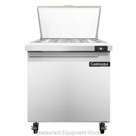 Continental Refrigerator SW32-12M Refrigerated Counter, Mega Top Sandwich / Sala