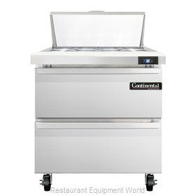 Continental Refrigerator SW32-8-D Refrigerated Counter, Sandwich / Salad Top