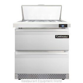 Continental Refrigerator SW32-8-FB-D Refrigerated Counter, Sandwich / Salad Top