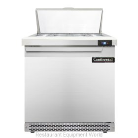 Continental Refrigerator SW32-8-FB Refrigerated Counter, Sandwich / Salad Top