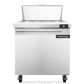 Continental Refrigerator SW32-8 Refrigerated Counter, Sandwich / Salad Top