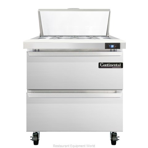 Continental Refrigerator SW32-8C-D Refrigerated Counter, Sandwich / Salad Top