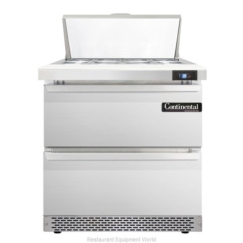 Continental Refrigerator SW32-8C-FB-D Refrigerated Counter, Sandwich / Salad Top