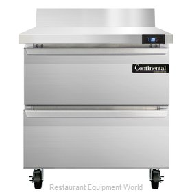 Continental Refrigerator SW32-BS-D Refrigerated Counter, Work Top