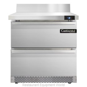 Continental Refrigerator SW32-BS-FB-D Refrigerated Counter, Work Top