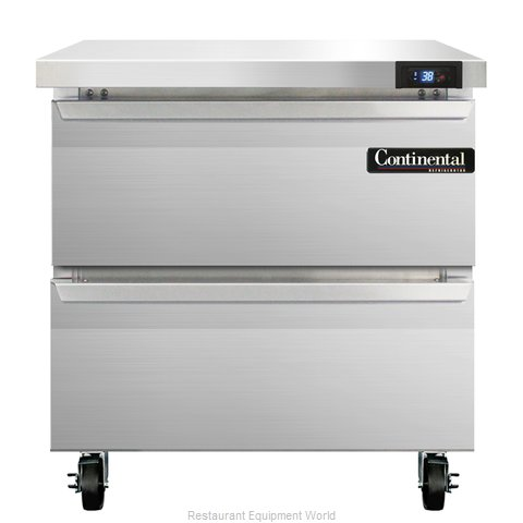 Continental Refrigerator SW32-D Refrigerated Counter, Work Top
