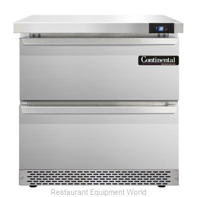 Continental Refrigerator SW32-FB-D Refrigerated Counter, Work Top