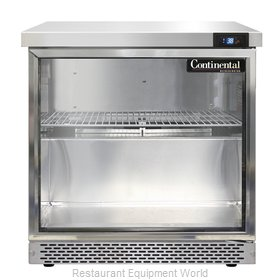 Continental Refrigerator SW32-GD-FB Refrigerated Counter, Work Top