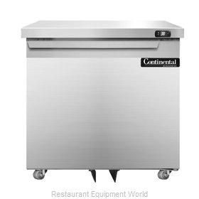 Continental Refrigerator SW32-U Refrigerator, Undercounter, Reach-In