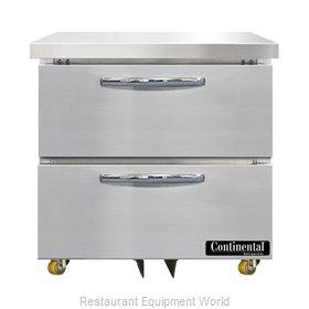 Continental Refrigerator SW32N-U-D Refrigerator, Undercounter, Reach-In