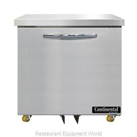 Continental Refrigerator SW32N-U Refrigerator, Undercounter, Reach-In