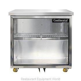 Continental Refrigerator SW32NGD-U Refrigerator, Undercounter, Reach-In