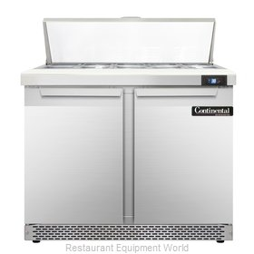 Continental Refrigerator SW36-10-FB Refrigerated Counter, Sandwich / Salad Top