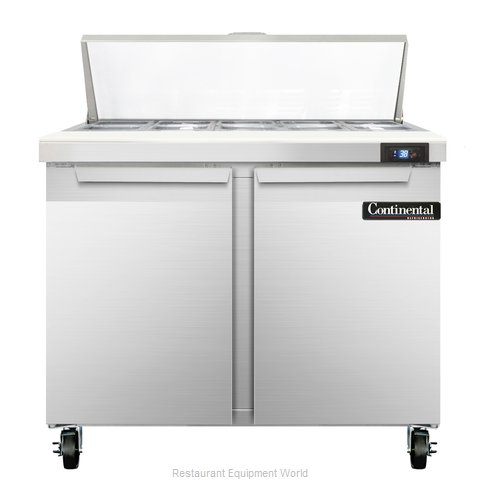 Continental Refrigerator SW36-10 Refrigerated Counter, Sandwich / Salad Top