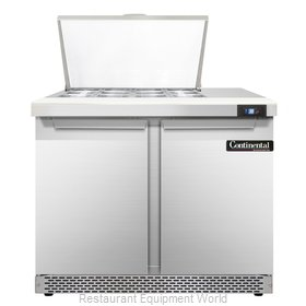 Continental Refrigerator SW36-12M-FB Refrigerated Counter, Mega Top Sandwich / S