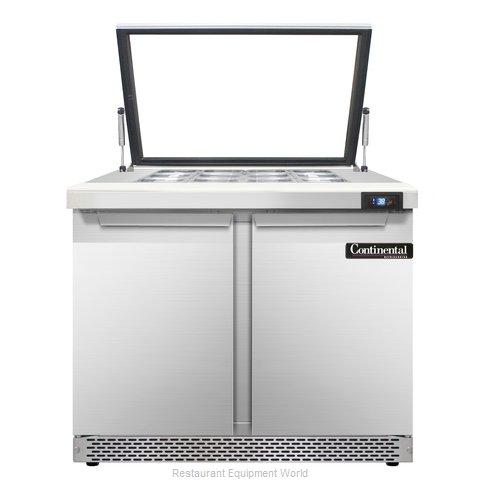 Continental Refrigerator SW36-12M-HGL-FB Refrigerated Counter, Mega Top Sandwich