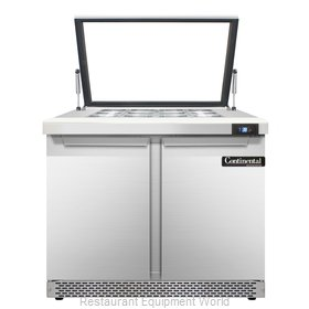 Continental Refrigerator SW36-12M-HGL-FB Refrigerated Counter, Mega Top Sandwich