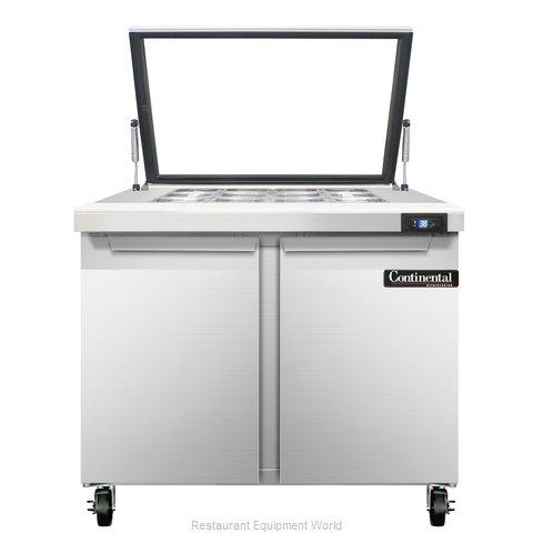 Continental Refrigerator SW36-12M-HGL Refrigerated Counter, Mega Top Sandwich /