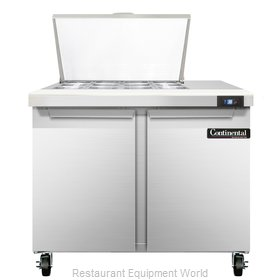 Continental Refrigerator SW36-12M Refrigerated Counter, Mega Top Sandwich / Sala
