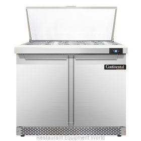 Continental Refrigerator SW36-15M-FB Refrigerated Counter, Mega Top Sandwich / S