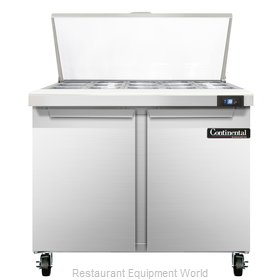Continental Refrigerator SW36-15M Refrigerated Counter, Mega Top Sandwich / Sala
