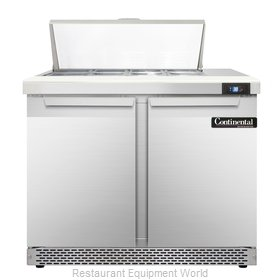 Continental Refrigerator SW36-8-FB Refrigerated Counter, Sandwich / Salad Top