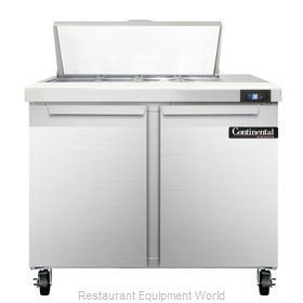 Continental Refrigerator SW36-8 Refrigerated Counter, Sandwich / Salad Top