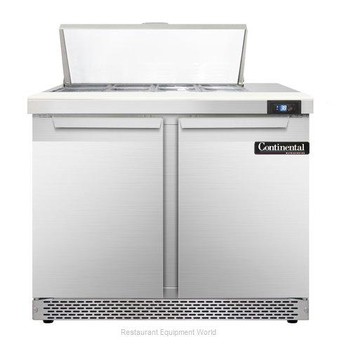 Continental Refrigerator SW36-8C-FB Refrigerated Counter, Sandwich / Salad Top