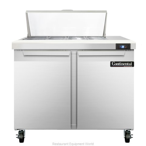 Continental Refrigerator SW36-8C Refrigerated Counter, Sandwich / Salad Top
