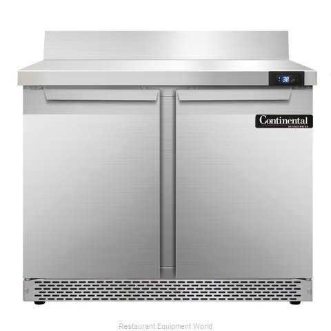 Continental Refrigerator SW36-BS-FB Refrigerated Counter, Work Top