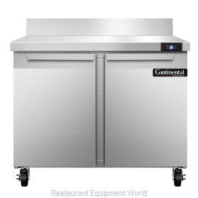 Continental Refrigerator SW36-BS Refrigerated Counter, Work Top