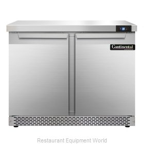 Continental Refrigerator SW36-FB Refrigerated Counter, Work Top