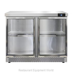 Continental Refrigerator SW36-GD-FB Refrigerated Counter, Work Top