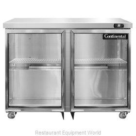 Continental Refrigerator SW36-GD-U Refrigerator, Undercounter, Reach-In