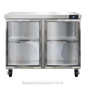 Continental Refrigerator SW36-GD Refrigerated Counter, Work Top