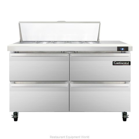 Continental Refrigerator SW48-10-D Refrigerated Counter, Sandwich / Salad Top