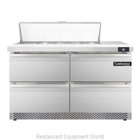 Continental Refrigerator SW48-10-FB-D Refrigerated Counter, Sandwich / Salad Top