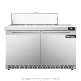 Continental Refrigerator SW48-10-FB Refrigerated Counter, Sandwich / Salad Top