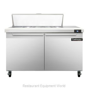 Continental Refrigerator SW48-10 Refrigerated Counter, Sandwich / Salad Top