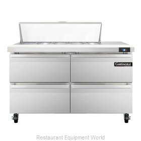 Continental Refrigerator SW48-10C-D Refrigerated Counter, Sandwich / Salad Top