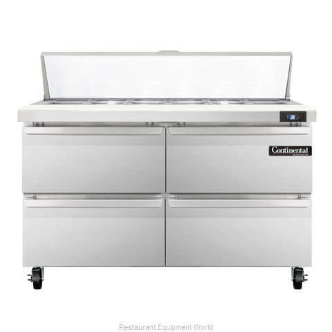Continental Refrigerator SW48-12-D Refrigerated Counter, Sandwich / Salad Top